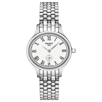 Tissot T1031101103300 Women's T-Lady Bella Ora Bracelet Strap Watch, Silver/White
