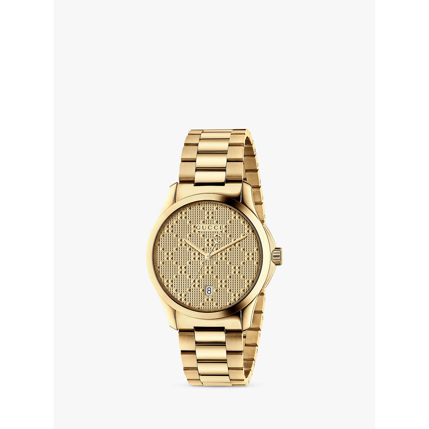Gucci Ya126461 Unisex G Timeless Date Bracelet Strap Watch, Gold by Gucci