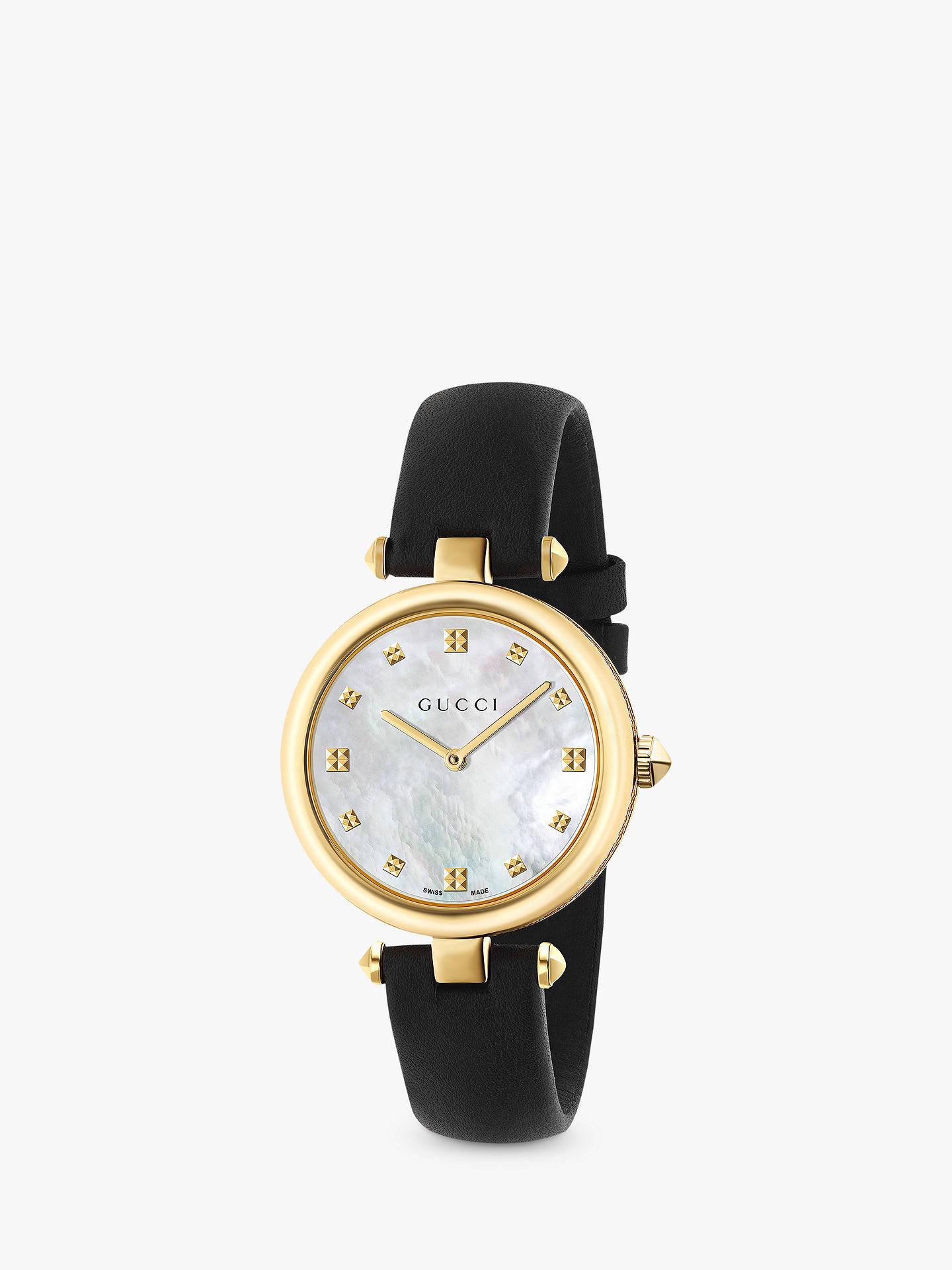 67c70f8defc Buy Gucci YA141404 Women s Diamantissima Leather Strap Watch