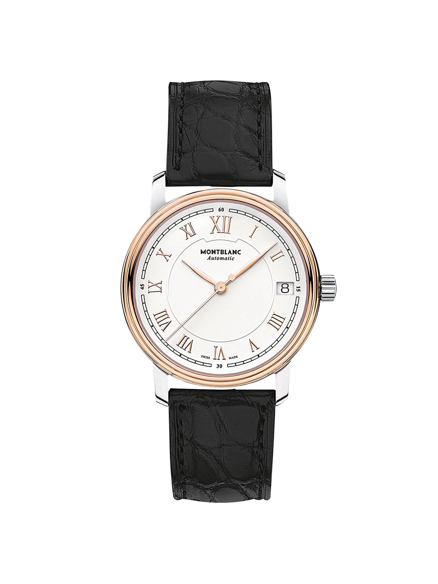 0874c36c3f6 Buy Montblanc 114368 Women s Tradition Date Automatic Alligator Leather  Strap Watch
