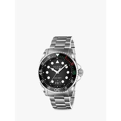 Image of Gucci YA136208 Unisex Dive Stainless Steel Bracelet Strap Watch, Steel