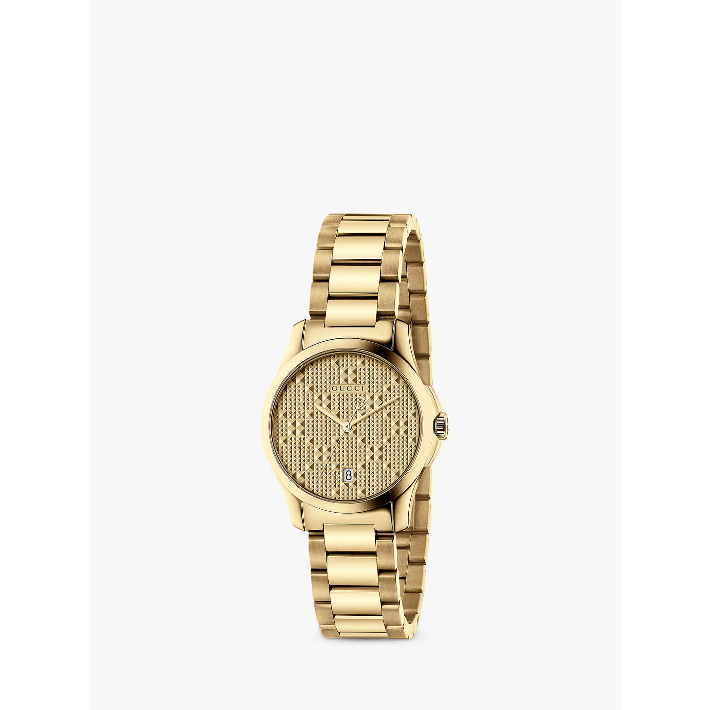 Gucci Ya126553 Women's G Timeless Date Bracelet Strap Watch, Gold by Gucci