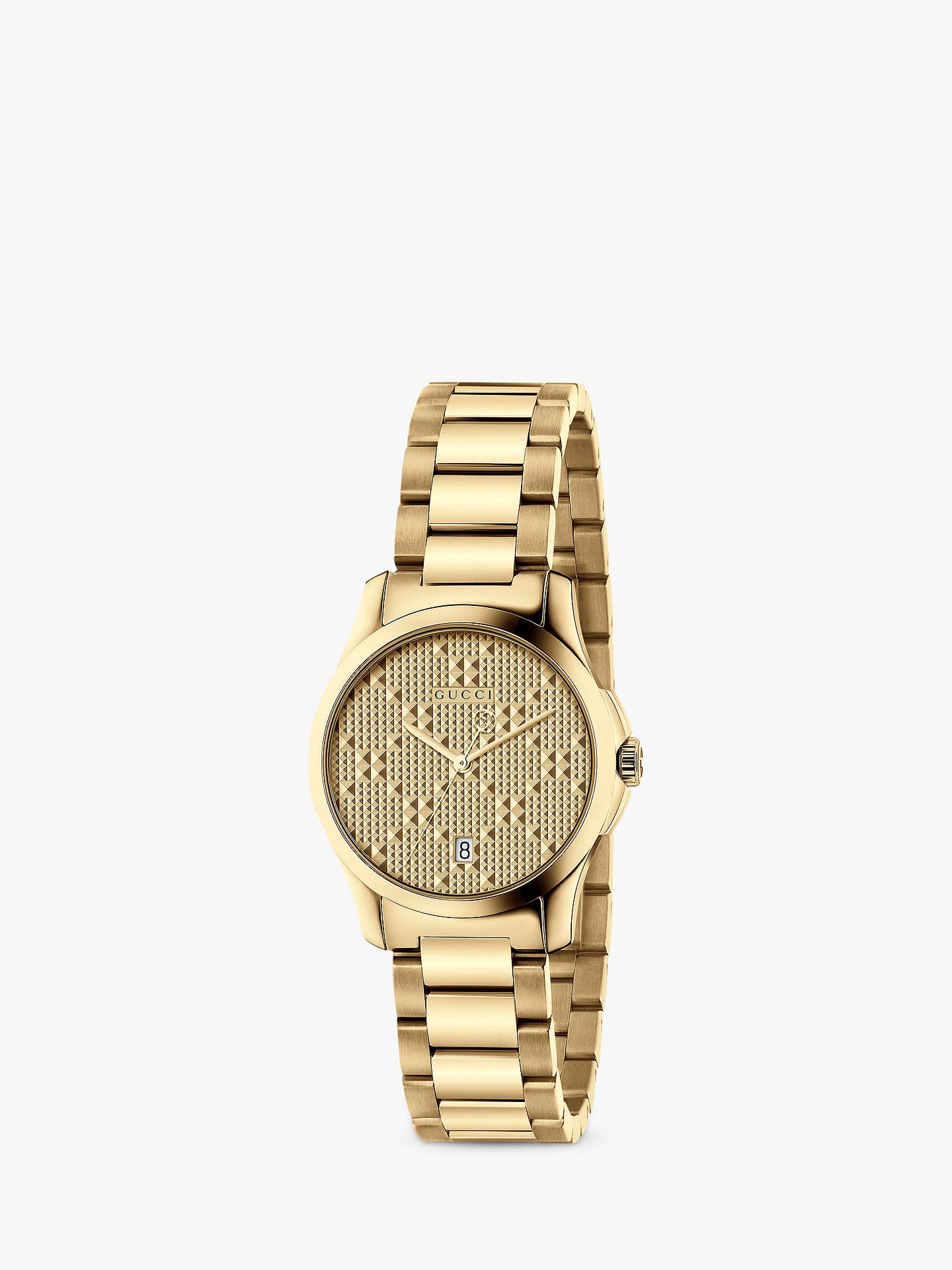 4e8a10a3cd7 Buy Gucci YA126553 Women s G-Timeless Date Bracelet Strap Watch