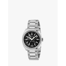 Buy Gucci YA142301 Men's GG2570 Date Bracelet Strap Watch, Silver/Black Online at johnlewis.com