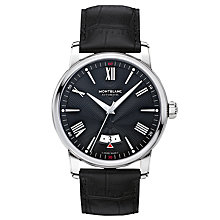 Buy Montblanc 115122 Men's 4810 Automatic Date Alligator Leather Strap Watch, Black Online at johnlewis.com