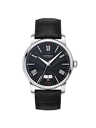 Montblanc 115122 Men's 4810 Automatic Date Alligator Leather Strap Watch, Black