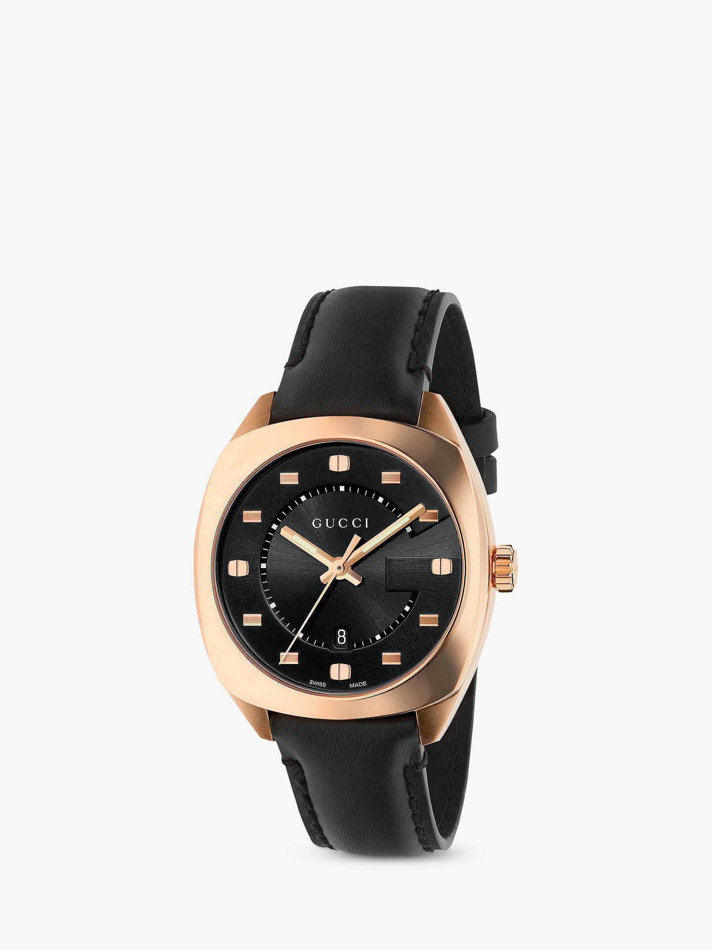 5dae95a6ef6 Buy Gucci YA142407 Women s GG2570 Date Leather Strap Watch