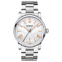 Buy Montblanc 114852 Men's 4810 Date Bracelet Strap Watch, Silver Online at johnlewis.com