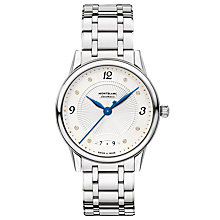 Buy Montblanc 114733 Women's Bohème Diamond Date Automatic Bracelet Strap Watch, Silver/White Online at johnlewis.com
