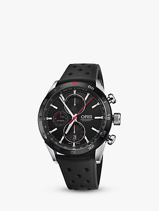 Oris 774 7661 4424-07 4 22 25FC Men's Artix GT Chronograph Date Automatic Rubber Strap Watch, Black
