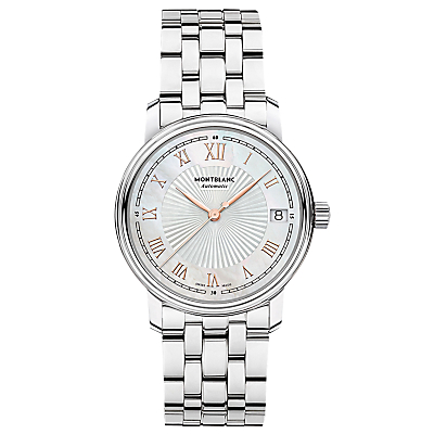 Montblanc 114367 Women's Tradition Date Bracelet Strap Watch, Silver
