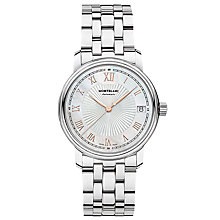Buy Montblanc 114367 Women's Tradition Date Bracelet Strap Watch, Silver Online at johnlewis.com