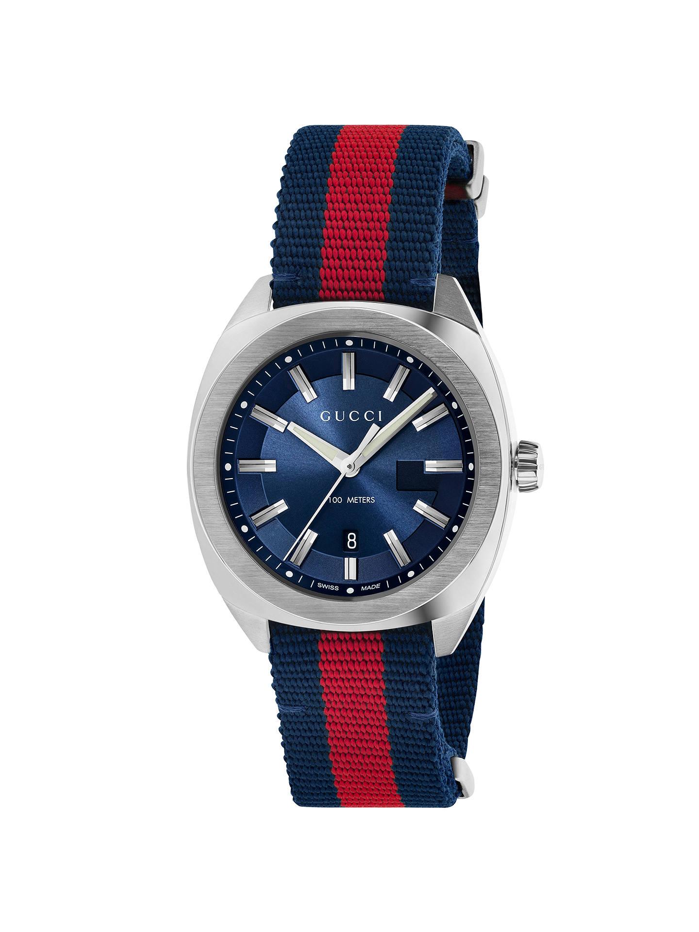 d189a12174a Buy Gucci YA142304 Men s GG2570 Date Fabric Strap Watch