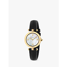 Buy Gucci YA141505 Women's Diamantissima Leather Strap Watch, Black/White Online at johnlewis.com