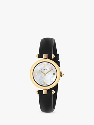 560f0b09bc Gucci YA141505 Women s Diamantissima Leather Strap Watch
