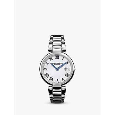 Raymond Weil 1600-ST-00659 Women's Shine Date Bracelet Strap Watch, Silver