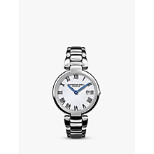 Buy Raymond Weil 1600-ST-00659 Women's Shine Date Bracelet Strap Watch, Silver Online at johnlewis.com
