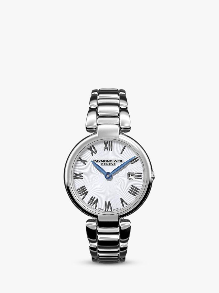 Raymond Weil Raymond Weil 1600-ST-00659 Women's Shine Date Bracelet Strap Watch, Silver