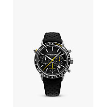 Buy Raymond Weil 7740-SC1-20021 Men's Freelancer Leather Strap Watch, Black Online at johnlewis.com