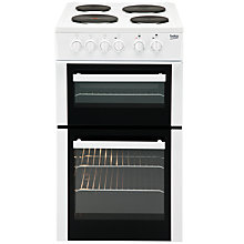 Buy Beko BS533A Electric Cooker, White Online at johnlewis.com