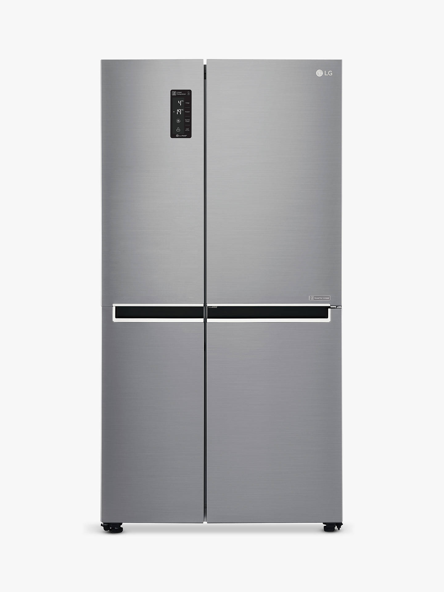BuyLG GSB760PZXV American Style Fridge Freezer, A+ Energy Rating, 90cm Wide, Silver Online at johnlewis.com