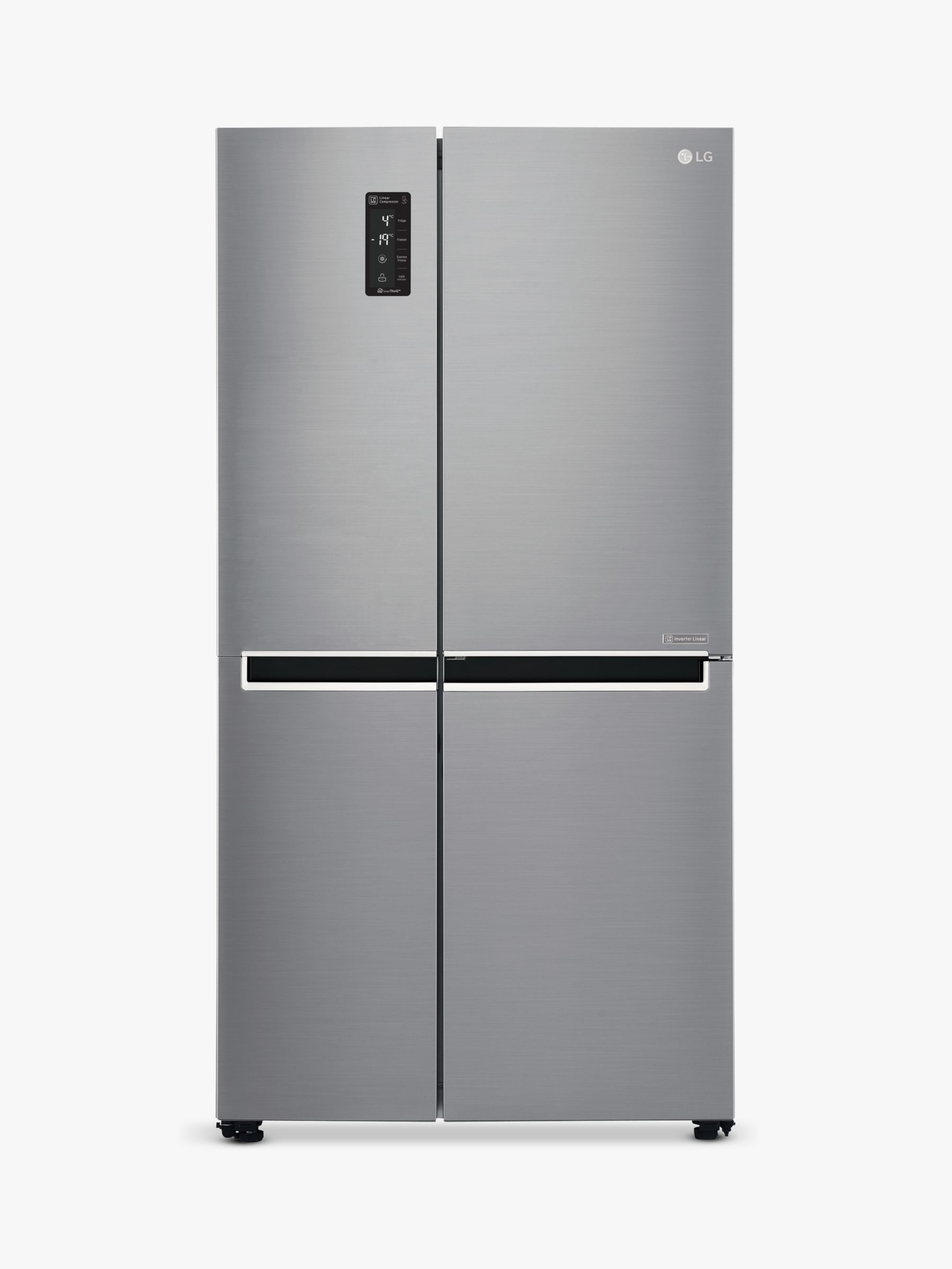 LG LG GSB760PZXV American Style Fridge Freezer, A+ Energy Rating, 90cm Wide, Silver