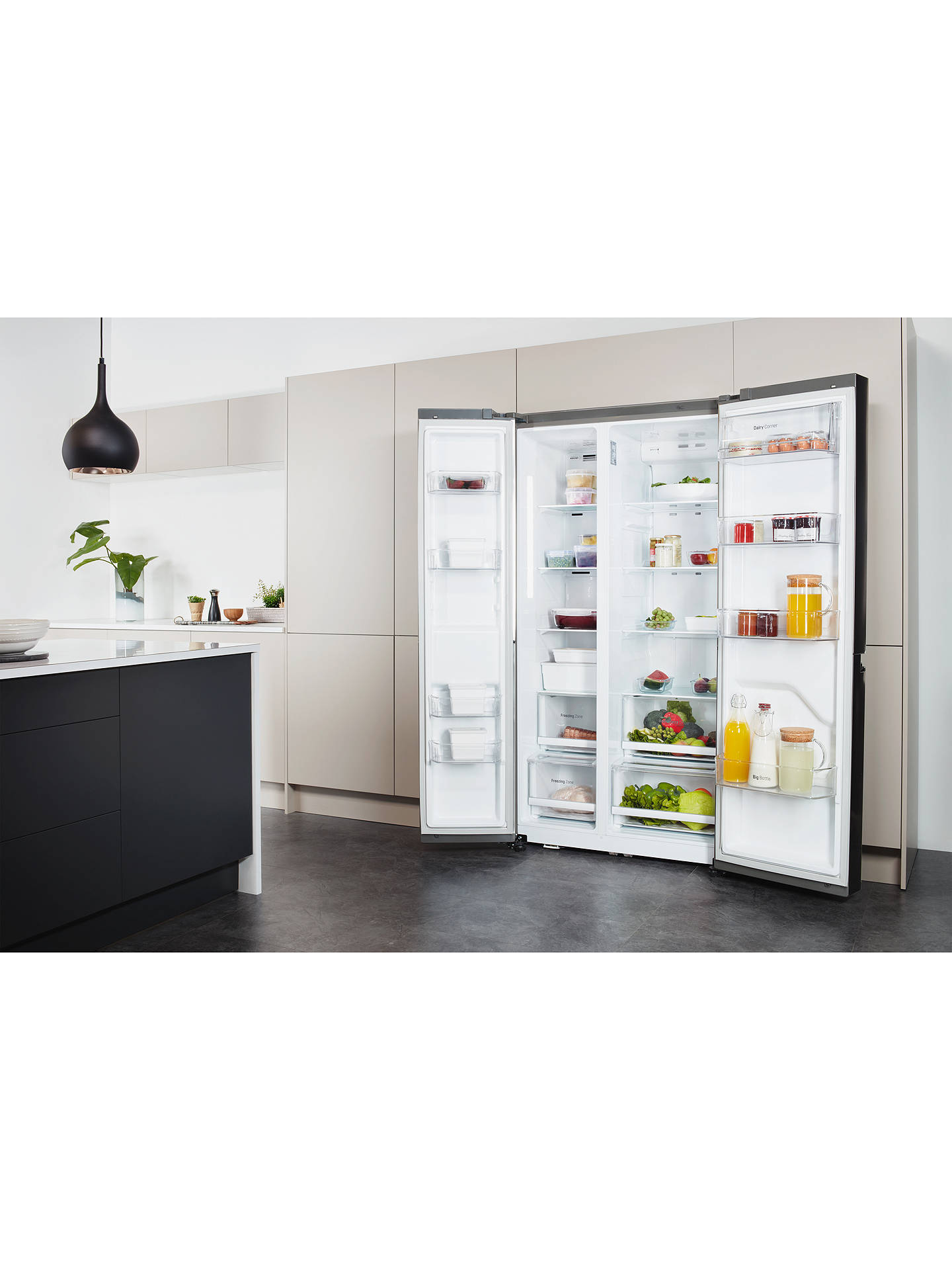 LG GSB760PZXV American Style Fridge Freezer, A+ Energy Rating, 90cm Wide,  Silver