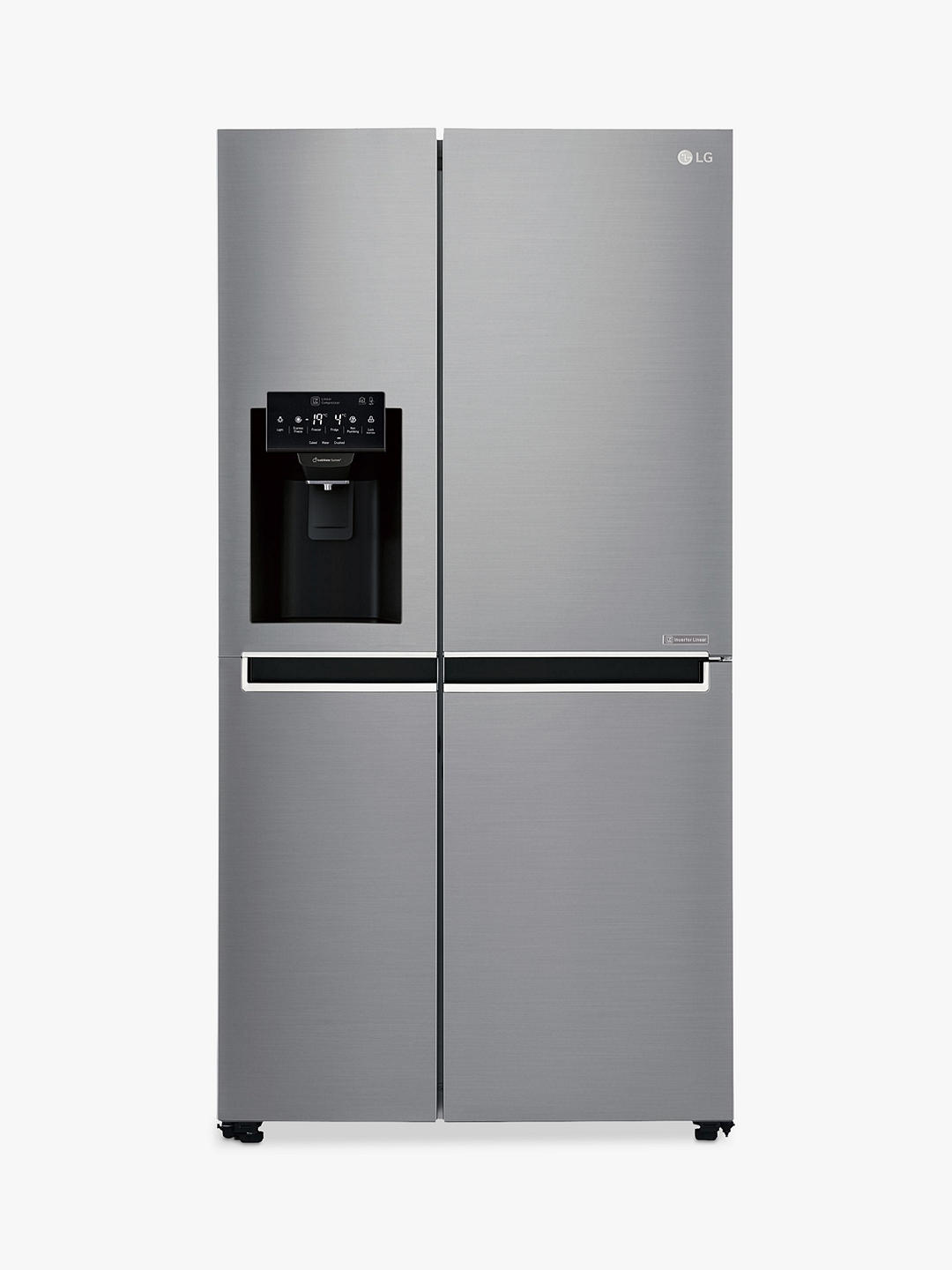 Buy LG GSL761PZXV American-Style 70/30 Freestanding Fridge Freezer, A+ Energy Rating, 90cm Wide, Non-Plumbed Water and Ice Dispenser, Shiny Steel Online at johnlewis.com