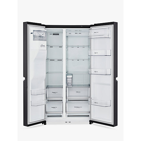 buy lg gsl761wbxv american style fridge freezer a energy rating 90cm wide non plumbed water. Black Bedroom Furniture Sets. Home Design Ideas