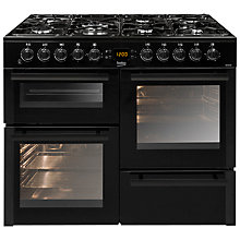 Buy Beko BDVF100K Dual Range Cooker, Black Online at johnlewis.com