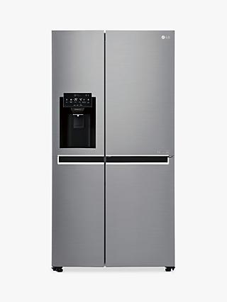 LG GSL760PZXV American-Style Freestanding 70/30 Fridge Freezer, A+ Energy Rating, 91.2cm Wide, Silver