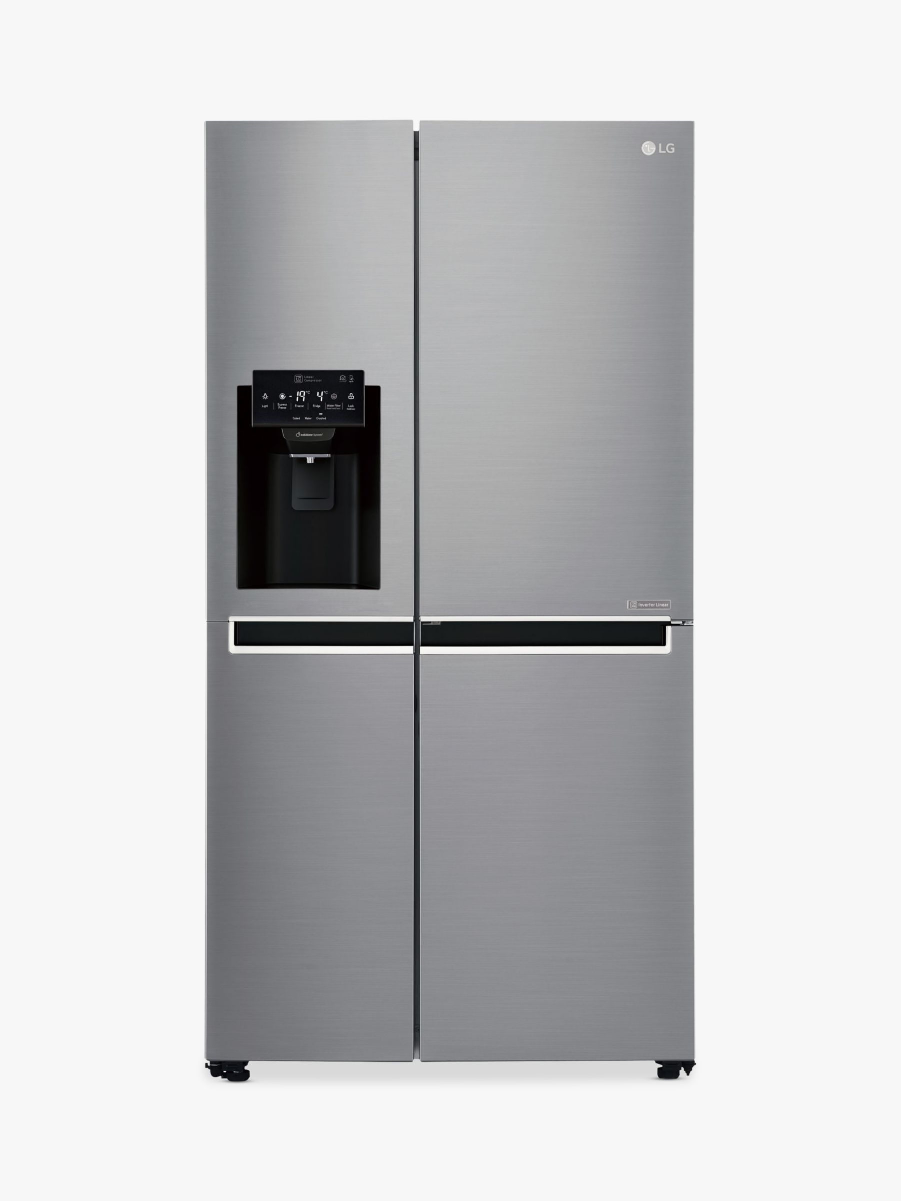 LG LG GSL760PZXV American Style Fridge Freezer, A+ Energy Rating, 91.2cm Wide, Silver