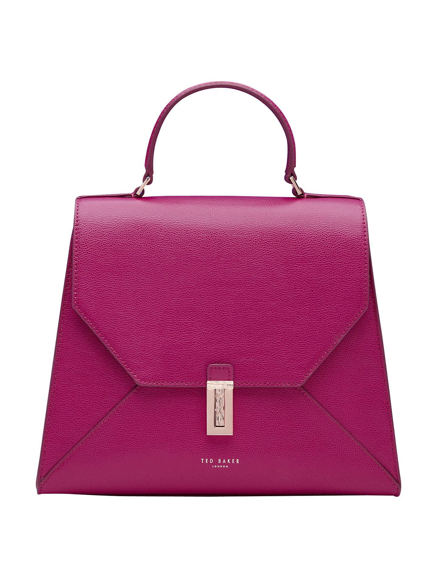 13a08c518b5 Buy Ted Baker Ellice Leather Top Handle Grab Bag, Grape Online at johnlewis.com  ...