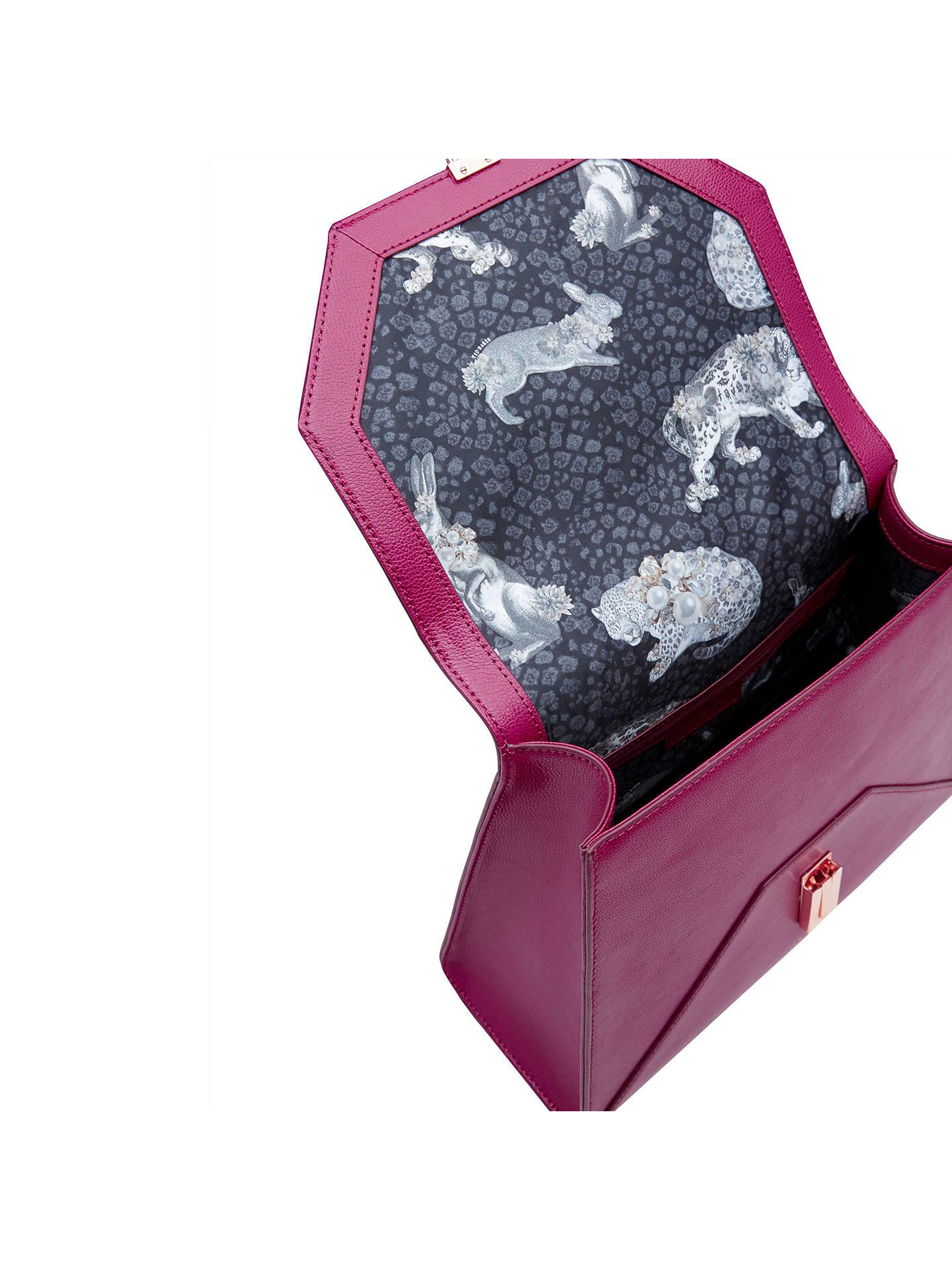 5a2dc2a7d83 ... Buy Ted Baker Ellice Leather Top Handle Grab Bag, Grape Online at  johnlewis.com ...