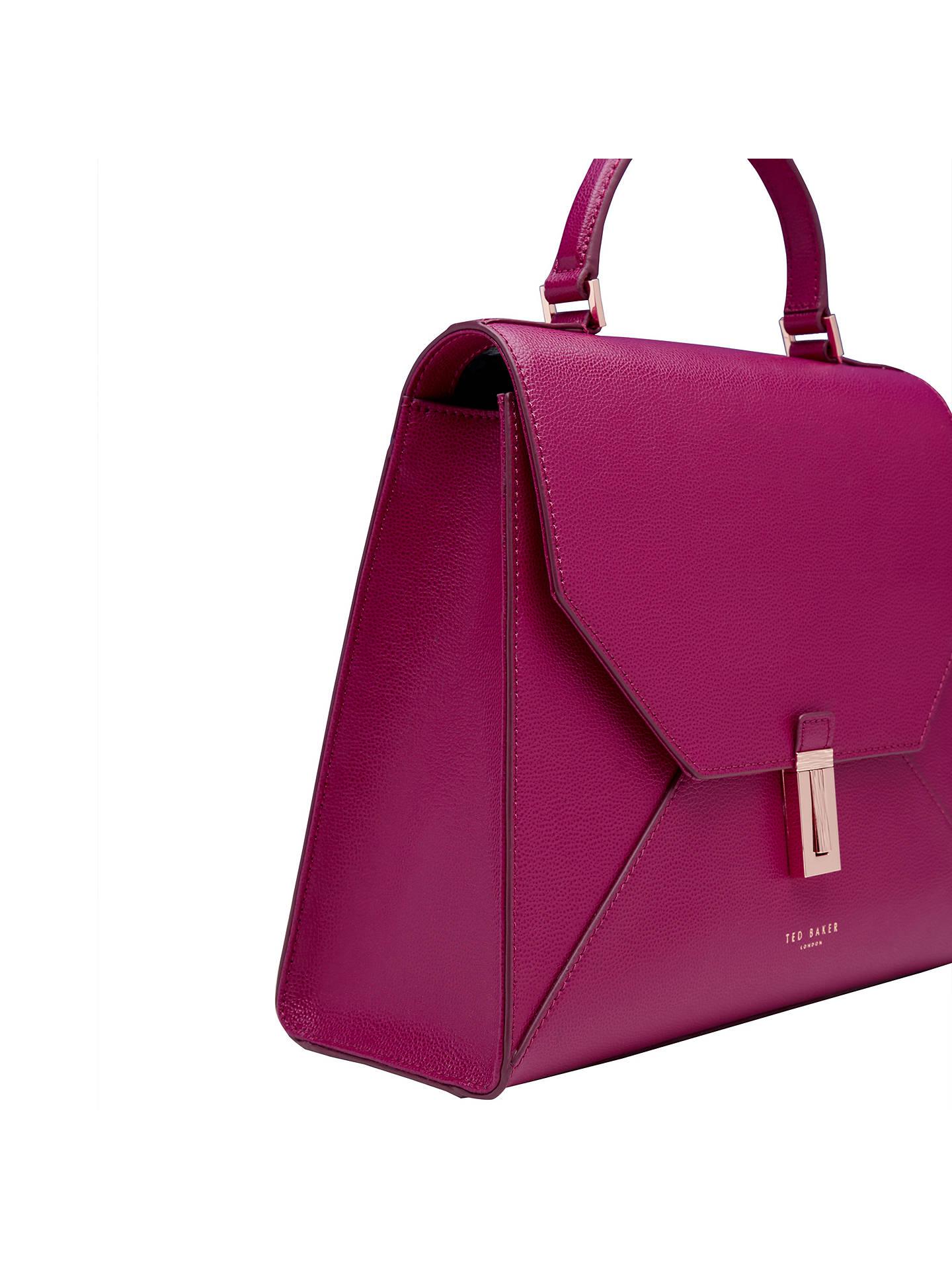 45c0cc58069 ... Buy Ted Baker Ellice Leather Top Handle Grab Bag, Grape Online at  johnlewis.com
