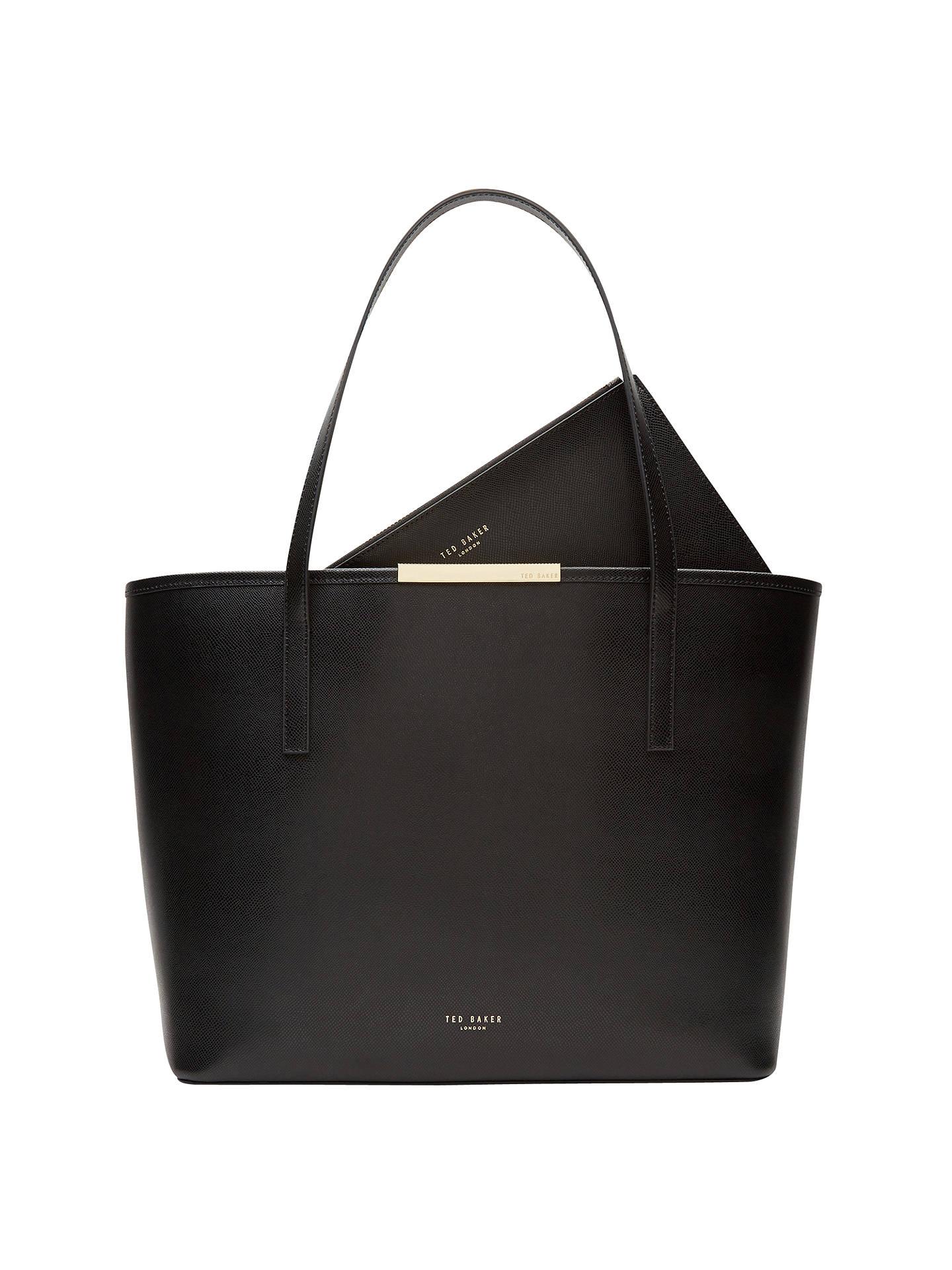 6872bf4cd81 Ted Baker Kaci Large Leather Shopper Bag, Black