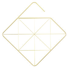 Buy Umbra Square Scarf Hanger, Brass Online at johnlewis.com