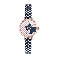 Buy Radley RY2378 Women's Love Radley Heart Leather Strap Watch, Fig/White Online at johnlewis.com