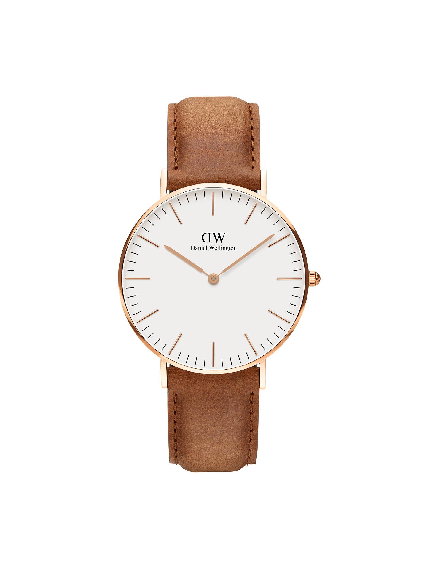a6bd0f752338 Buy Daniel Wellington DW00100111 Women s Classic Durham Leather Strap Watch
