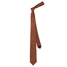 Buy HUGO by Hugo Boss Polka Dot Woven Silk Tie, Rust Online at johnlewis.com