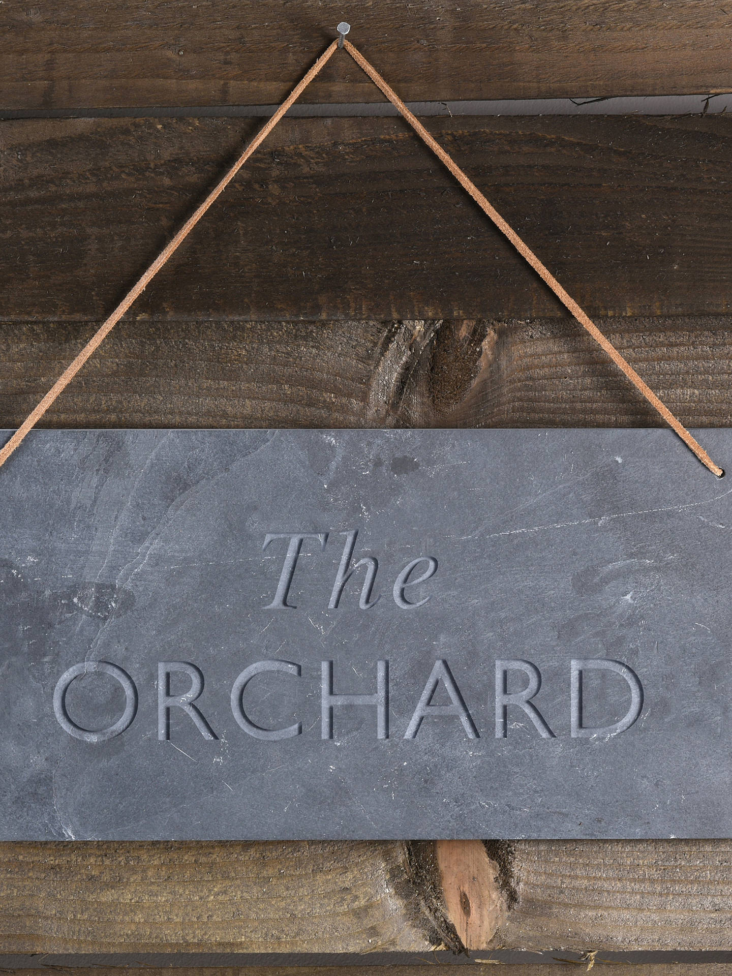 BuyLetterfest Engraved House Slate Sign, 10 Characters Online at johnlewis.com