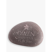 Buy Letterfest Christening Pebble, Large Online at johnlewis.com