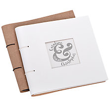 Buy Letterfest Personalised Wedding Leather Photo Album Online at johnlewis.com