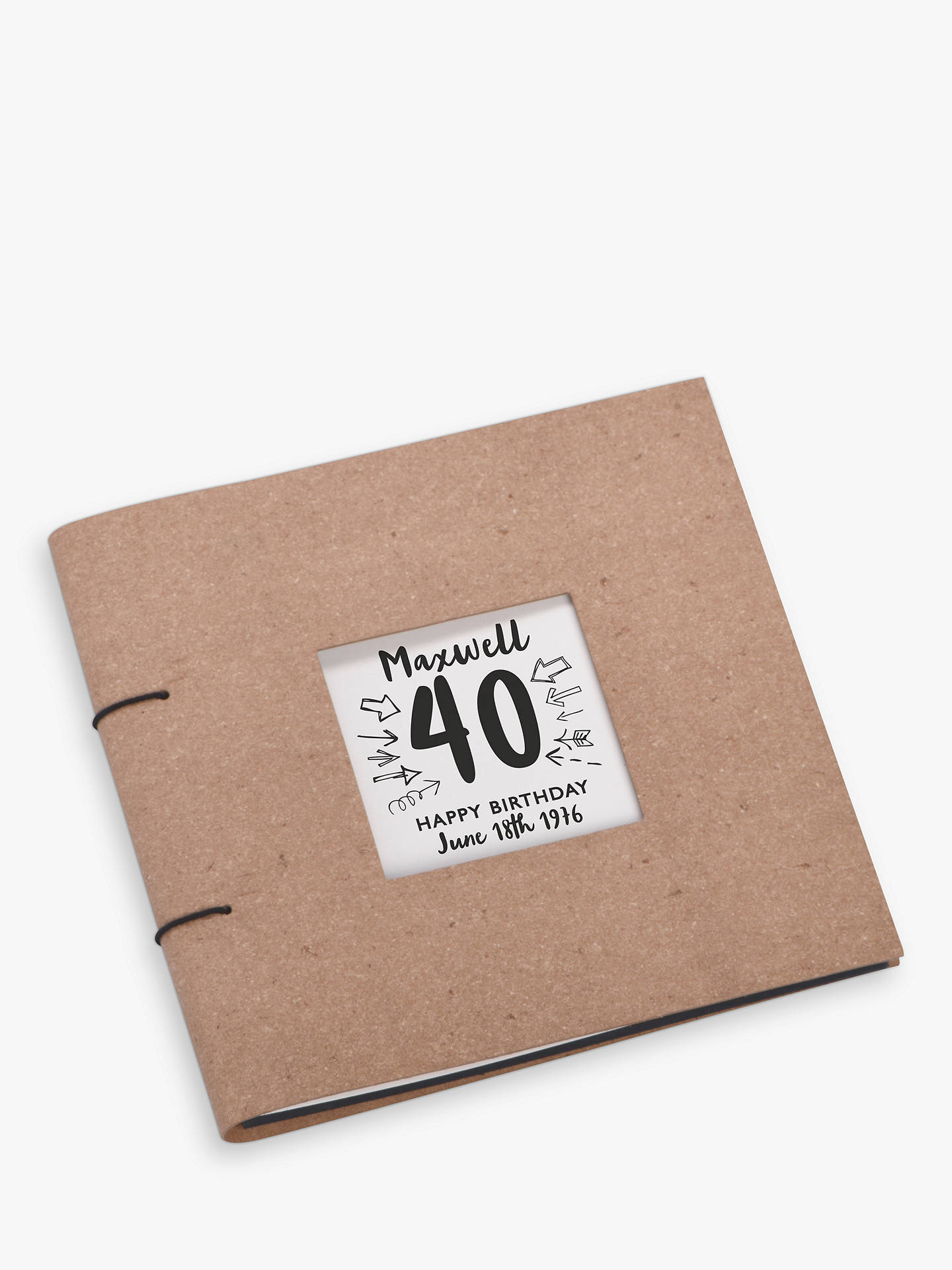 Buy Letterfest Personalised Birthday Leather Photo Album Online at johnlewis.com