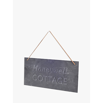 Letterfest Engraved House Slate Sign, 20 Characters