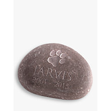 Buy Letterfest Pet Memorial Pebble, Large Online at johnlewis.com