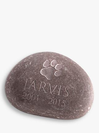 Letterfest Pet Memorial Pebble, Large