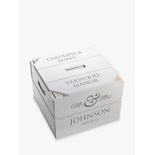 Buy Letterfest Personalised Wedding Keepsake Crate Online at johnlewis.com