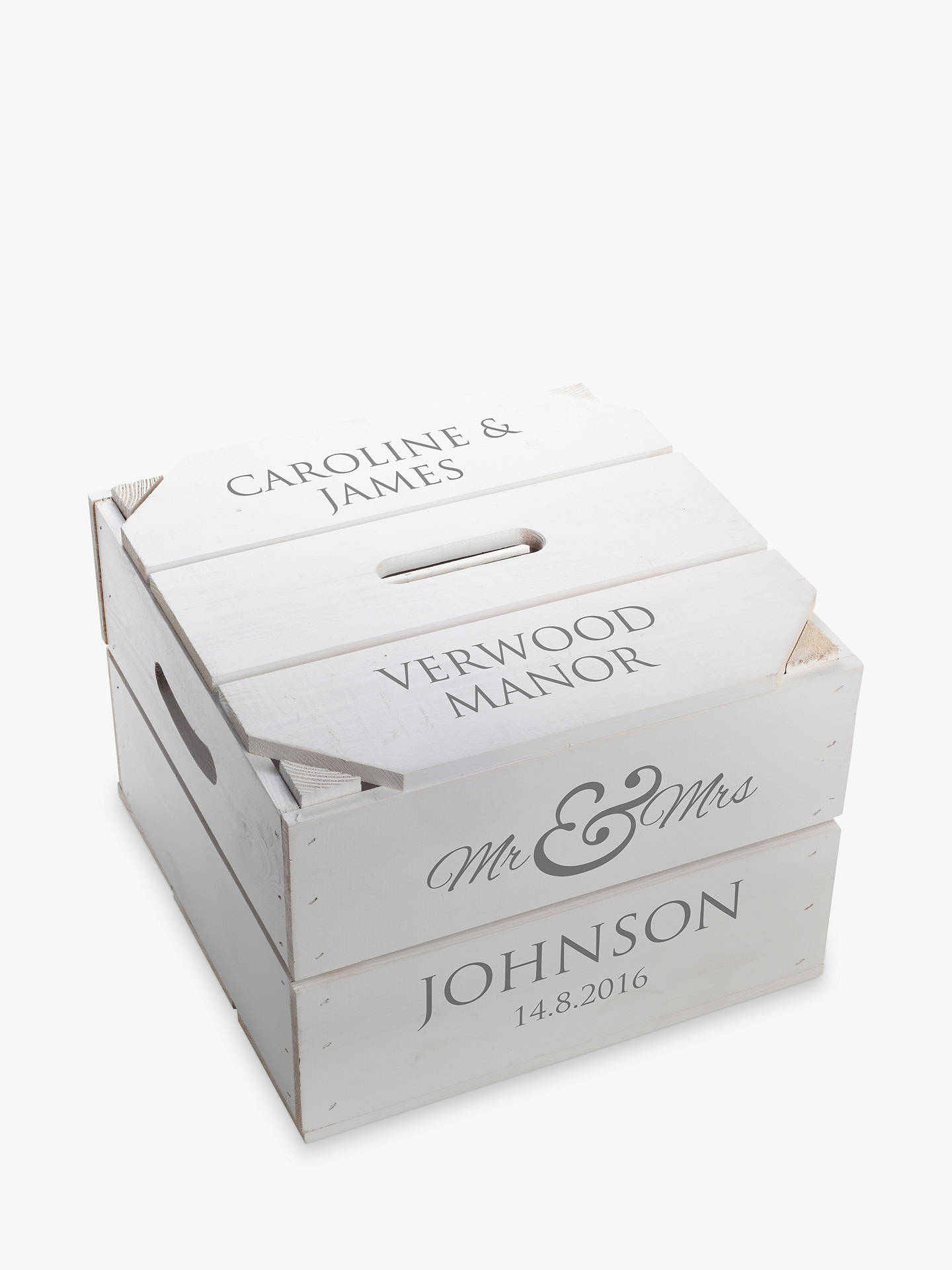 c9145e76e34 Buy Letterfest Personalised Wedding Keepsake Crate Online at johnlewis.com  ...