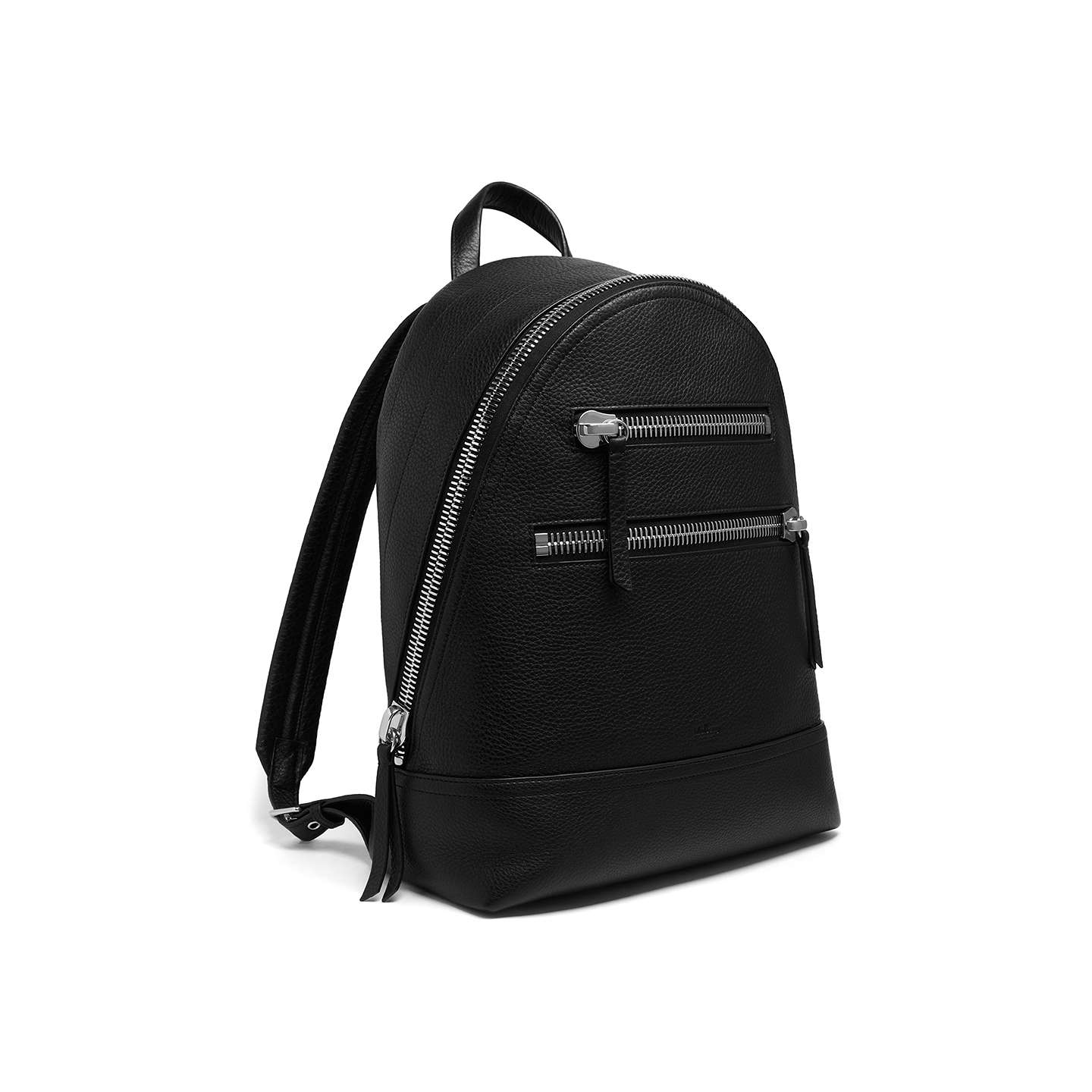 BuyMulberry Zip Backpack, Black Online at johnlewis.com